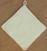 Make Your Own Pot Holders with This Easy Crochet Pattern: Easy Crochet Potholder in Afghan Stitch