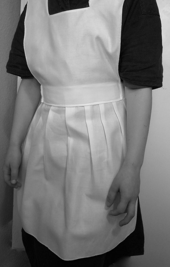 Victorian style apron and mop cap / mob cap by knittedswimsuit, £12.00