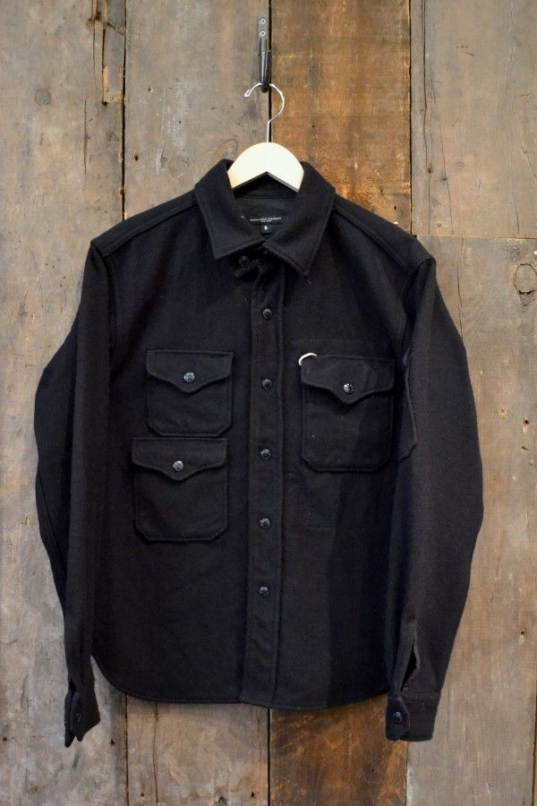 Engineered Garments Cpo Jacket Navy All Wool Umm