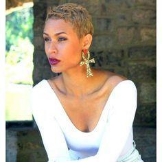 Blonde Tapered Twa Pixie Tapered Twa Natural Hair