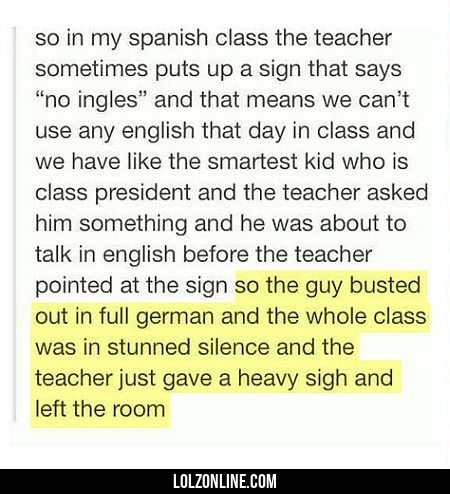So In My Spanish Class The Teacher... #lol