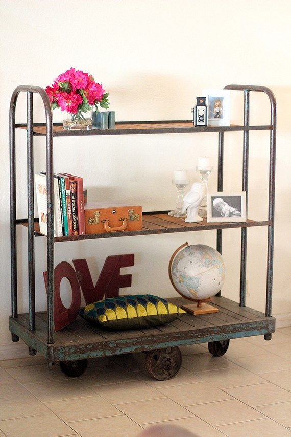 Industrial feel imagine rolling your coffee bar cart into for Coffee carts for office