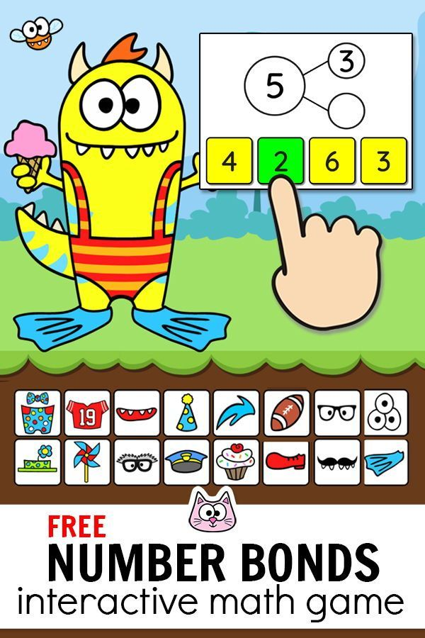 Free Practice Number Bonds To 10 Using This Engaging Monster