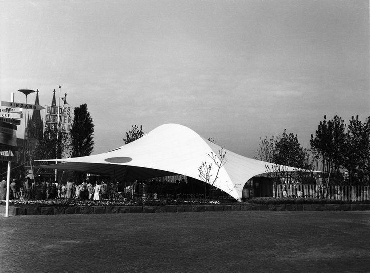 Frei Otto_Bundesgartenschau 1957_01_Eingangshalle_Koeln 1957_Foto Atelier Frei Otto Warmbronn