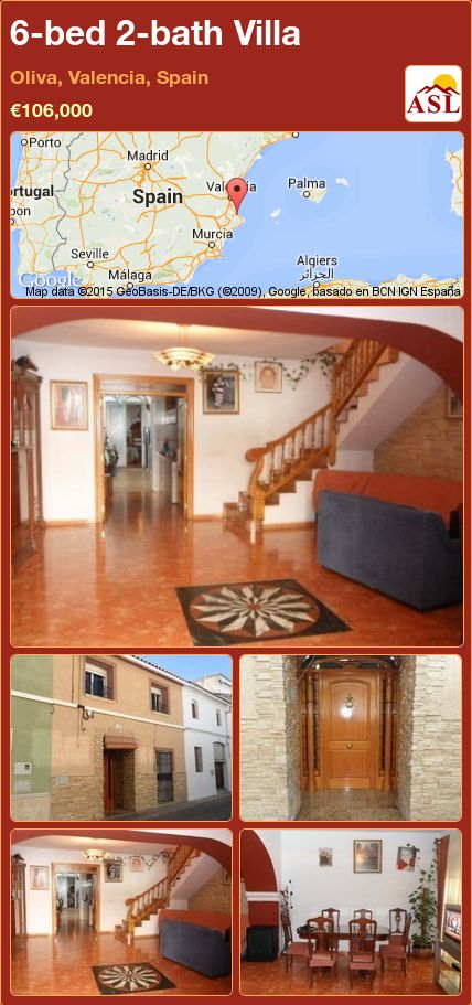 6-bed 2-bath Villa in Oliva, Valencia, Spain ►€106,000 #PropertyForSaleInSpain