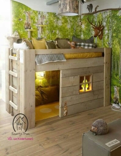Definitely not the hunting theme, but love the bed design!