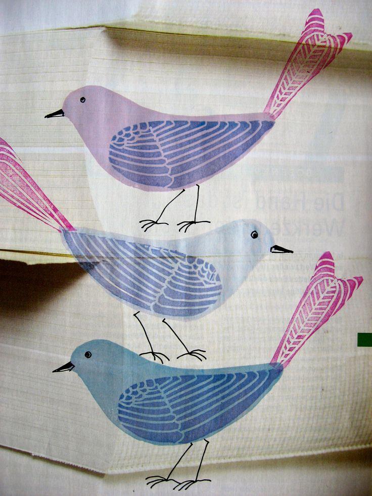 Stempel-Vögel