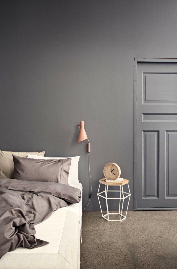 25+ beste ideeën over Schlafzimmer wand op Pinterest - schlafzimmer grau streichen