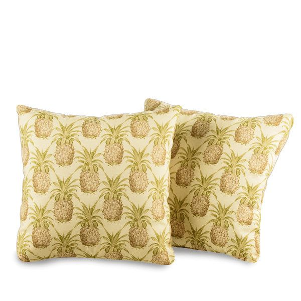 Pineapple Decorative Outdoor Throw Pillows (Set of 2)