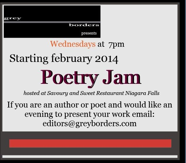 Announcement for Writers and Poets for upcoming series of Readings at Savoury and Sweet Restaurant throughout the 2014 year