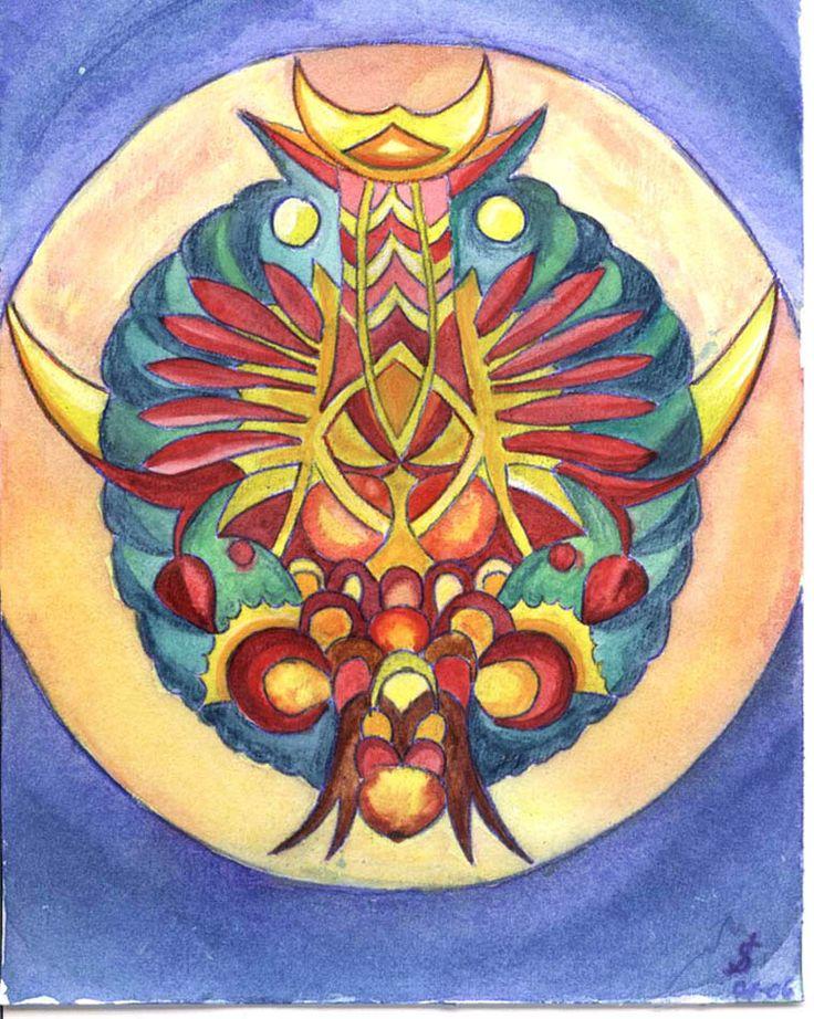 Tree Mandala   Mandala Tree   baum frucht malerei   Malerei