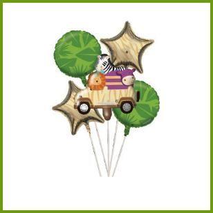Mylar Balloon Cluster, $9.99 Cdn set/5 http://www.allthatstuff.net/SafariAdventure/safari-adventure-party-supplies.html