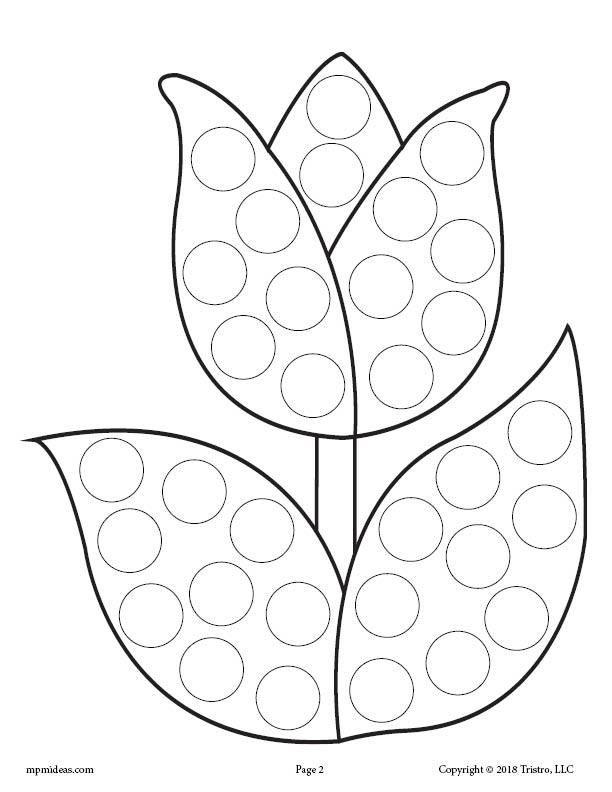 12 Spring Do A Dot Printables Spring Coloring Pages Preschool