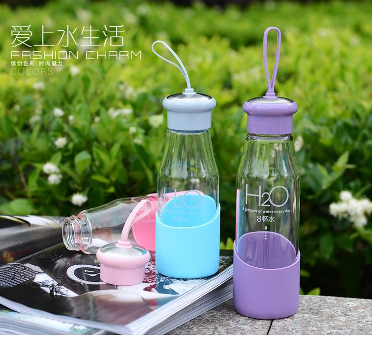 550ml silicone sleeve glass sports bottle manufacturer,customized portable glass water bottle manufacturer,Glass Water Bottle