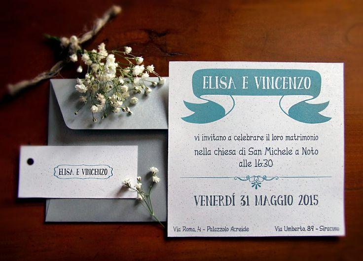 Wedding Invitation, invito e segnaposto. Powered by: Il laboratorio di Carta.