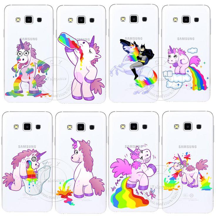 Nettes Flusspferd Regenbogen Einhorn Pferd Klar Hartplastik Fall Deckung Für Samsung Galaxy S3 S4 S5 Mini S6 S7 Kante Hinweis 2 3 4 5
