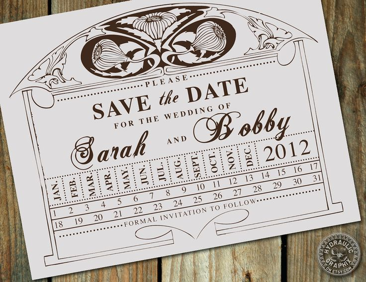 Vintage Train Station Ticket Stub Punch Card Wedding Save the Date - Customize your colors