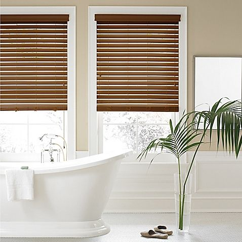 The Real Simple 2-Inch Faux Wood Blinds provide additional insulation to your room, helping to lower heating and cooling costs. The blinds also feature a privacy construction that prevents light from filtering through when closed.