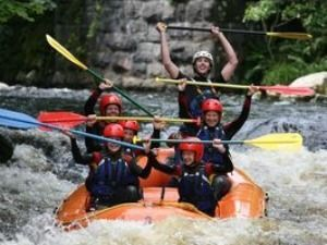 The National White Water Centre, Wales. We provide a range of white water rafting sessions and can arrange weekend breaks including accomodation and adrenaline fuelled activities including canoyoning, quad biking, paintballing, high rope courses and many more superbly memorable activities.