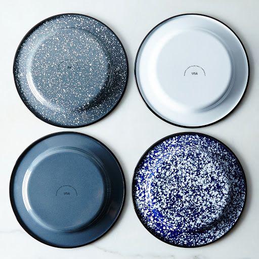 Porcelain Enamelware Plates (Sets of 4) on Food52