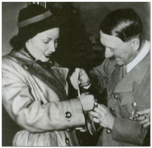 Adolf Hitler with Joeseph Goebbels mistress, Lida Baarova