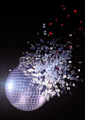 Exploding disco ball #discoball #disco #stayinalivenovi
