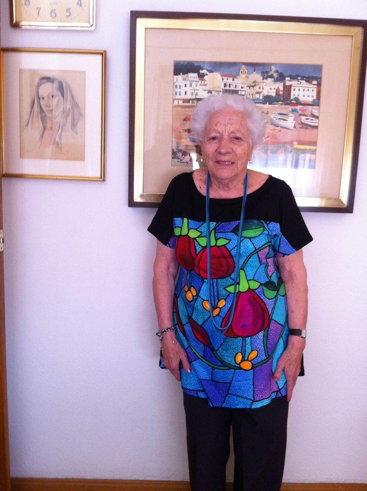 Nuestra amiga mas veterana. Con 98 años y así de guapa. #AmigasDeInstinto