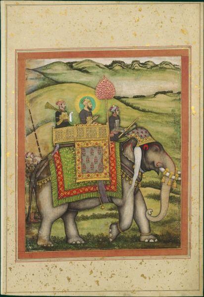 Emperor Bahadur Shah I Mounted on an elephant