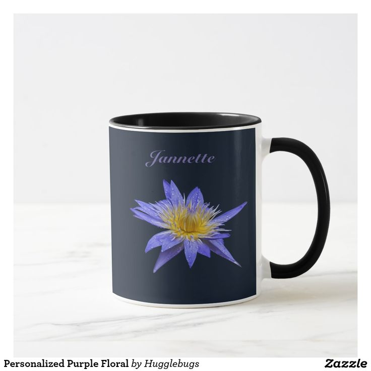 Personalized Purple Floral