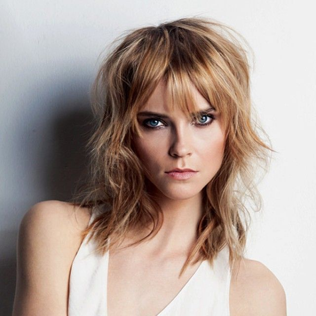 The New Mullet. Dare to try it – the next-generation mullet keeps it modern with choppy textures and structure #IAmGoldwell #hair #hairstyle