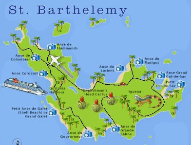 St Barthelemy Stbarths Stbarts Map In 2019 St Barts