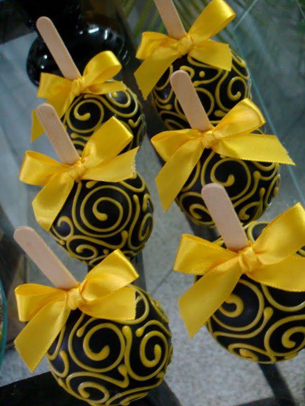 Doce Estillo | A arte do Pâtisserie: Casamento Amarelo e Preto