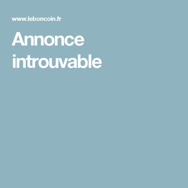 Annonce introuvable