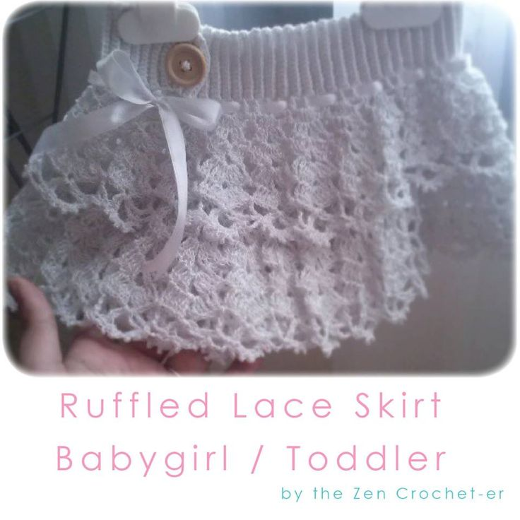 Modern Crochet Ruffle Dress Pattern Ornament - Easy Scarf Knitting ...
