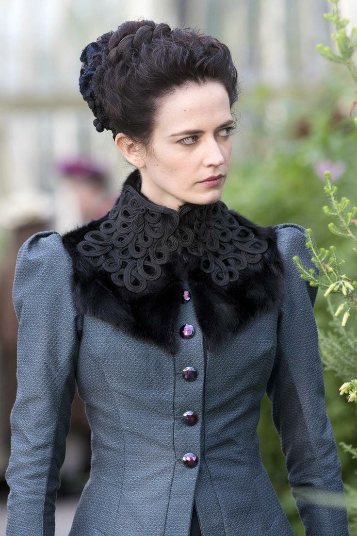 "#EvaGreen as Vanessa Ives in ""Penny Dreadful"". Costumes designed by #GabriellaPescucci"