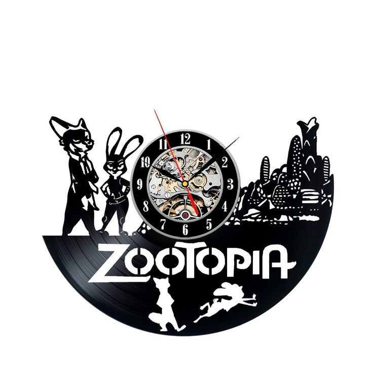 Amazon Com Zootopia Vinyl Record Wall Clock Decorate