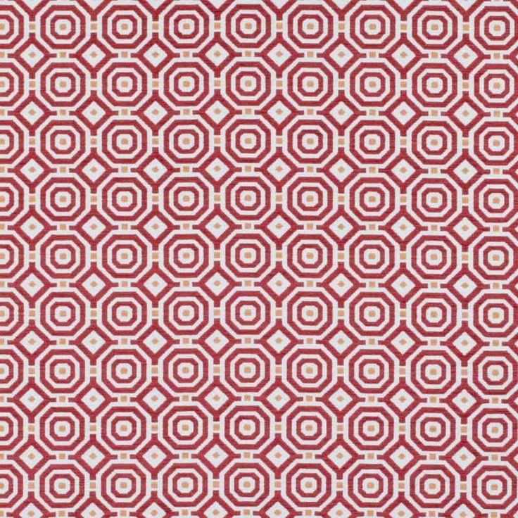 Warwick Fabrics : ASTOR, Colour FLAME