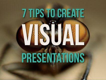 7 tips to create visual presentations by Emiland , via Slideshare