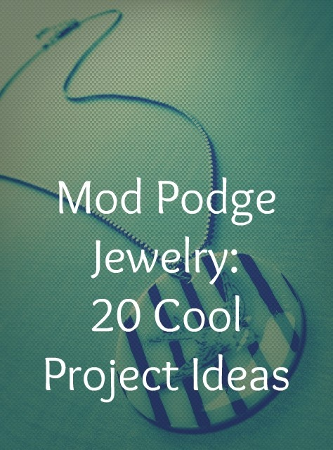 20 ideas for using Mod Podge to create fabulous jewelry - bracelets, necklaces, rings and more. - Click image to find more DIY & Crafts Pinterest pins