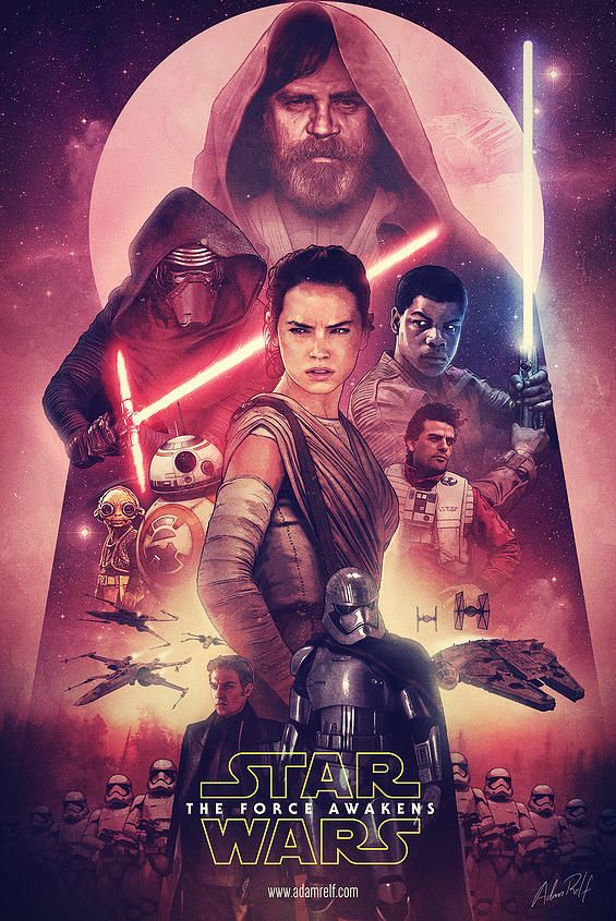 Star Wars: The Force Awakens - Fan Art PosterCreated by Adam Relf