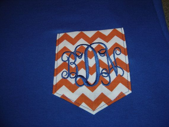 Florida Gators Chevron Pocket Tee Shirt   by allthatjazzdesigns, $18.00