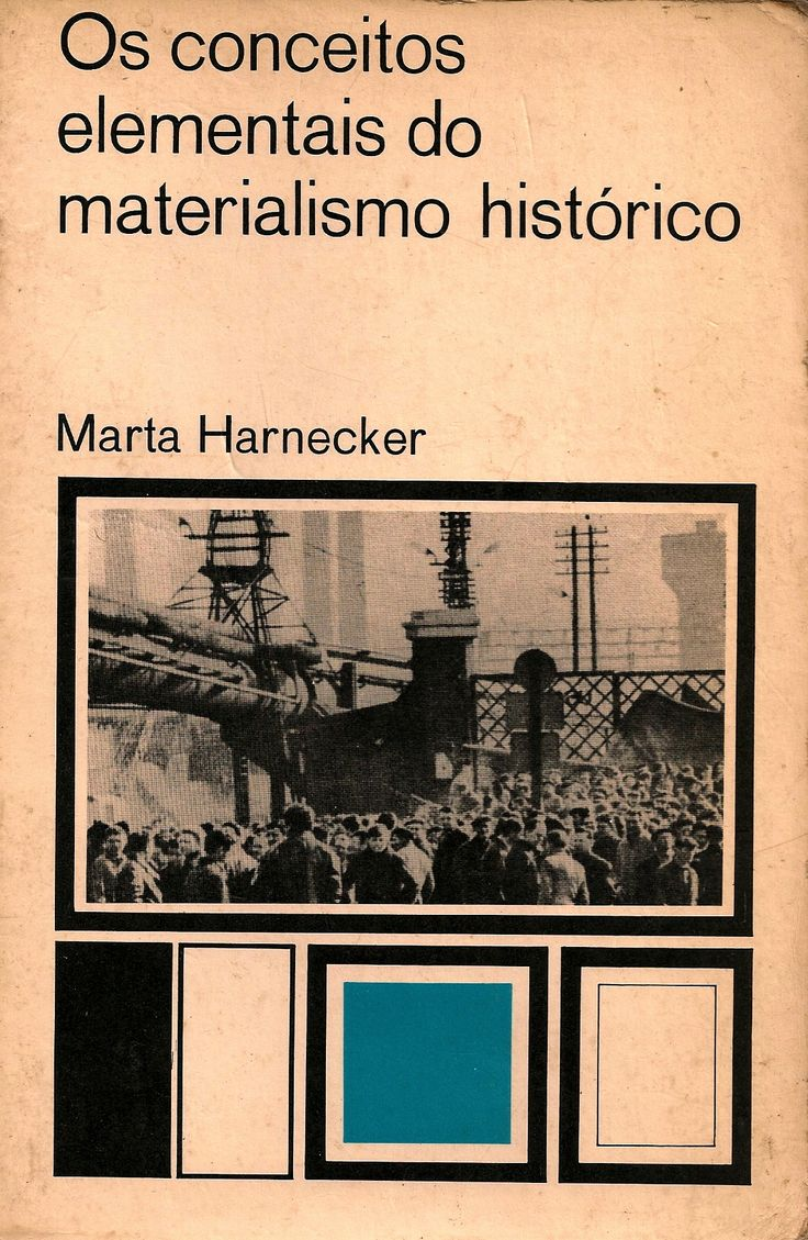 HARNECKER, Marta. Os conceitos elementais do materialismo histórico. [s.l.]: [s.n.], 1973. 317 p. Inclui bibliografia; 21x14cm.  Palavras-chave: MATERIALISMO HISTORICO; FILOSOFIA MARXISTA.  CDU 330.85 / H289c / 1973