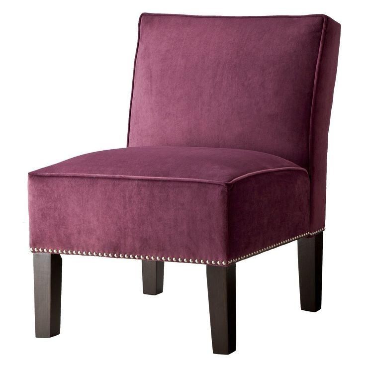 Burke Velvet Slipper Chair With Nailhead Trim Dream