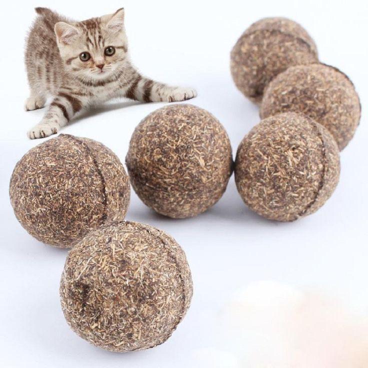 New Cat Natural Catnip Ball Menthol Flavor cats gatos supplies cats katten speelgoed gatto brinquedos catnip kedi malzemeleri