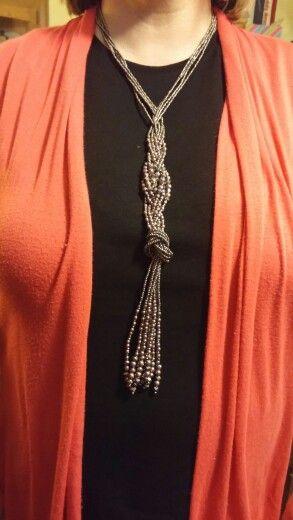 Premier Designs Modern Twist Necklace braided