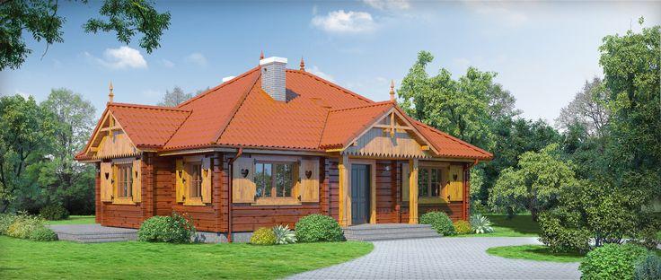 Projekt domu mieszkalnego parterowego, z poddaszem do adaptacji, niepodpiwniczonego. Opis techniczny projektu powierzchnia użytkowa 101.53 m² +część gosp. 34.71 m² powierzchnia zabudowy 140.5 m² powierzchnia netto 111.94 m²  Nieduży, funkcjonalny dom parterowy. Salon z wykuszem, trzy pokoje i łazienka. Wydzielona kuchnia i kotłownia. Kominek w salonie. Schody na strych prowadzą z wiatrołapu.
