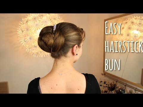 Quick Hairstick Bun for long and superlong hair - YouTube