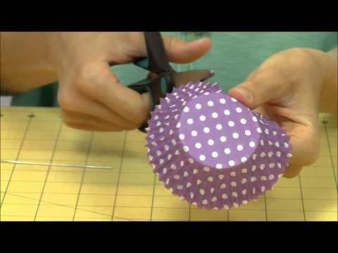 How to Make a Cupcake Liner Floral Bouquet - YouTube