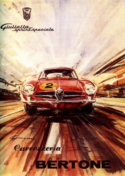 Motor Car Ads - Alfa Romeo Giulietta Sprint Speziale Carrozzeria Bertone.