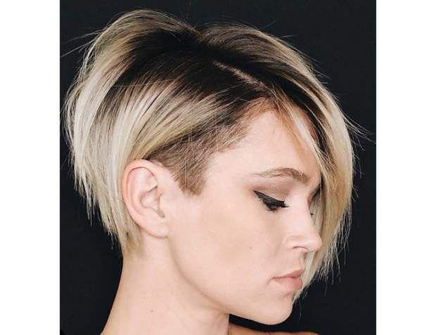 15 Coiffures Pour Cheveux Courts Reperees Sur Instagram Carre Court Rase Carre Plongeant Rase Coupe Carre Plongeant Court